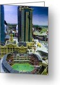 Baseball Print Greeting Cards - Legoland Dallas I Greeting Card by Ricky Barnard