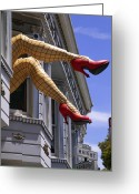 Shoes Greeting Cards - Legs Haight Ashbury Greeting Card by Garry Gay