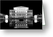 Neo-classical Greeting Cards - Leipzig Panorama Greeting Card by Marc Huebner