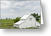 Summer On The Farm Greeting Cards - Lemke Farm 1889 Greeting Card by Wilma  Birdwell