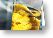 Back Light Greeting Cards - Lemon Drink Greeting Card by Carlos Caetano