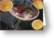 Lemons Greeting Cards - Lemon Drop Greeting Card by Debbie DeWitt