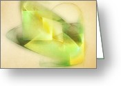 Lines Greeting Cards - Lemon Lime Greeting Card by Scott Norris