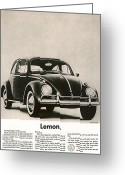 Advertisement Greeting Cards - Lemon Greeting Card by Nomad Art And  Design