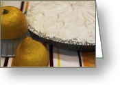 Serving Piece Greeting Cards - Lemon Pie Greeting Card by Kelly Rader