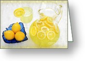 Summertime Drink Greeting Cards - Lemonade And Summertime Greeting Card by Andee Photography