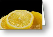 Flavoring Greeting Cards - Lemons Greeting Card by Cheryl Young