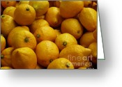 Citrus Fruits Greeting Cards - Lemons Greeting Card by Methune Hively