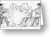 Violinist Greeting Cards - Lener String Quartet Greeting Card by Granger