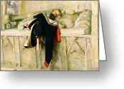 Restful Greeting Cards - LEnfant du Regiment Greeting Card by Sir John Everett Millais