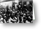 Russian Revolution Greeting Cards - Lenin At Finland Station Greeting Card by Granger