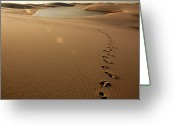 Footprint Greeting Cards - Lençóis Maranhenses Greeting Card by Ridalv