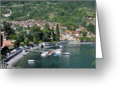 Lake Como Greeting Cards - Lenno Lake Como Greeting Card by Marilyn Dunlap