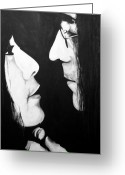 Music Legends Greeting Cards - Lennon and Yoko Greeting Card by Ashley Price