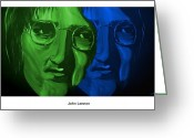 Silver Moonlight Greeting Cards - Lennon Greeting Card by Mark Moore