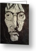 Image John Lennon Greeting Cards - Lennon Greeting Card by Nzephany Madrigal Uzoka