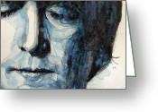 Beatles Painting Greeting Cards - Lennon Greeting Card by Paul Lovering