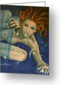 Zodiac Greeting Cards - Leo from Zodiac series Greeting Card by Dorina  Costras