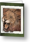 Teeth Greeting Cards - Leo Greeting Card by Jim Turner