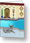 Linda D Seacord Greeting Cards - Leo Greeting Card by Linda Seacord