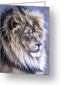 Wolf Song Studio Greeting Cards - Leo Greeting Card by Sandi Baker