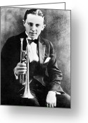 Cornet Greeting Cards - (leon) Bix Beiderbecke Greeting Card by Granger