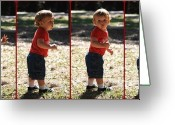 Little Boy Photo Greeting Cards - Leon Riley Greeting Card by Mandy Shupp