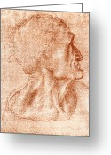 Vinci Greeting Cards - Leonardo Da Vinci Artwork Greeting Card by Sheila Terry