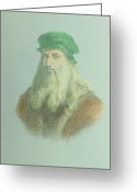 Vinci Greeting Cards - Leonardo Da Vinci Greeting Card by Dr Jeremy Burgess