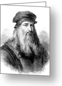 Vinci Greeting Cards - Leonardo Da Vinci, Italian Artist & Inventor Greeting Card by .