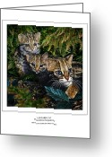 Felidae Digital Art Greeting Cards - LEOPARD CAT Prionailurus bengalensis Greeting Card by Owen Bell