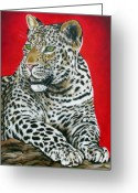 Ilse Kleyn Greeting Cards - Leopard Greeting Card by Ilse Kleyn