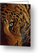African Cats Greeting Cards - Leopard Greeting Card by Jurek Zamoyski