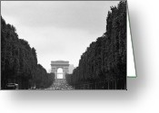 Champs Elysees Greeting Cards - Les Champs Elysees Greeting Card by Hans Mauli
