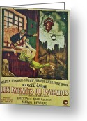 Pierre Renoir Greeting Cards - Les Enfants Du Paradis Greeting Card by Nomad Art And  Design