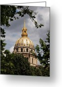 Historical Site Greeting Cards - Les Invalides Paris France Greeting Card by Marion McCristall