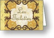 Bath Greeting Cards - Les Toilettes Greeting Card by Debbie DeWitt