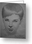 Caron Greeting Cards - Leslie Caron Greeting Card by Ronald  Welch