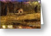 Rural Decay  Digital Art Greeting Cards - Less Than Perfect Greeting Card by Sari Sauls