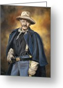 John Wayne Greeting Cards - Lest We Forget Greeting Card by Kim Lockman