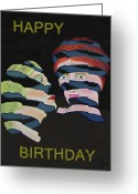 Lesvos Greeting Cards - Lesvos By Night Happy Birthday Greeting Card by Eric Kempson