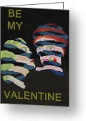 Lesvos Greeting Cards - Lesvos Rose Be My Valentine Greeting Card by Eric Kempson