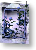Blue Leaves Greeting Cards - Let Free the Pain Greeting Card by Vicki Ferrari