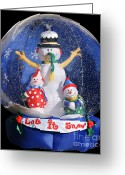 Snowing Greeting Cards - Let it snow Greeting Card by Christine Till