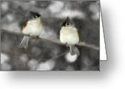 Titmouse Greeting Cards - Let It Snow Greeting Card by Lori Deiter