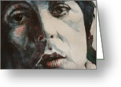 Paul Mccartney  Greeting Cards - Let Me Roll It Greeting Card by Paul Lovering
