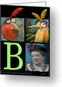 Old Tv Digital Art Greeting Cards - Let Me Tell You Bout The Birds And Greeting Card by Tim Nyberg
