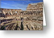 Roma Greeting Cards - Let the Games Begin Greeting Card by Joan Carroll