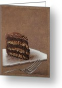 Chocolate Greeting Cards - Let us eat cake Greeting Card by James W Johnson