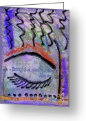 Survivor Mixed Media Greeting Cards - Let Us Pray Greeting Card by Angela L Walker
